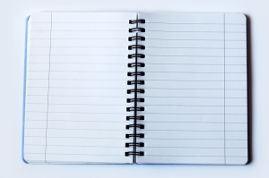 blank notebook spiral-bound