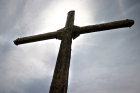 cross with sky background